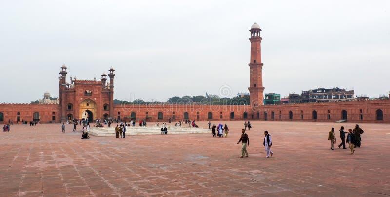 Mesquita de Badshahi em Paquistão imagem de stock royalty free