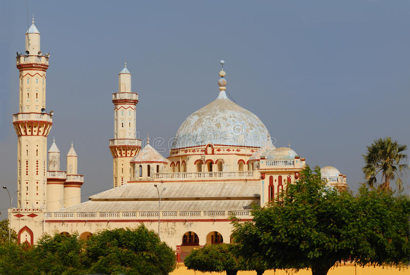 Mesquita de Djourbel, Senegal imagem de stock