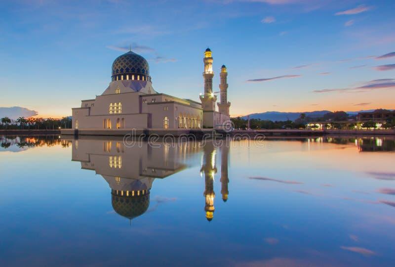 Mesquita de flutuação, Bornéu fotografia de stock