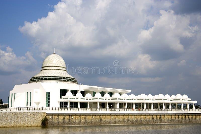 Mesquita de flutuação branca moderna imagens de stock