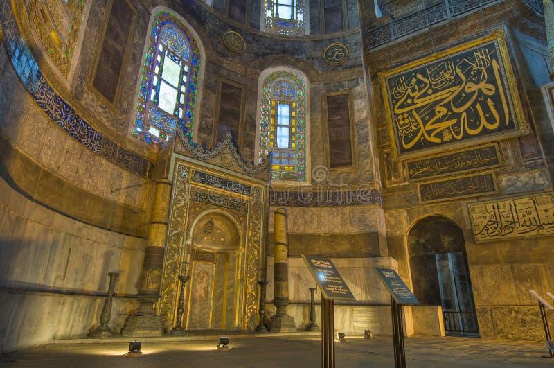 Mesquita de Hagia Sófia em Istambul imagem de stock