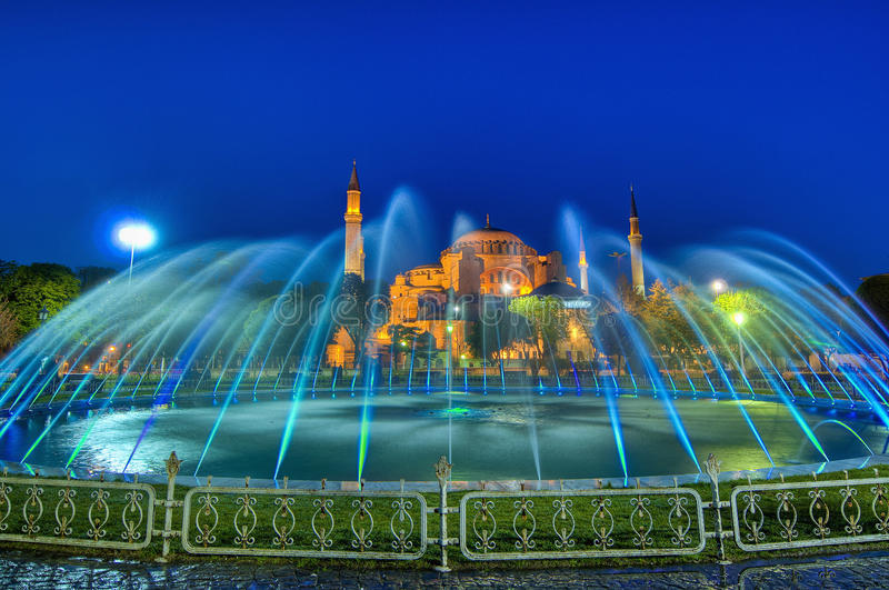 Mesquita de Hagia Sófia em Istambul fotos de stock royalty free