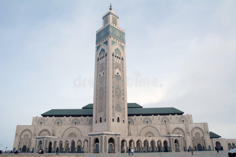 Mesquita de Hassan II Casablanca, Marrocos fotografia de stock