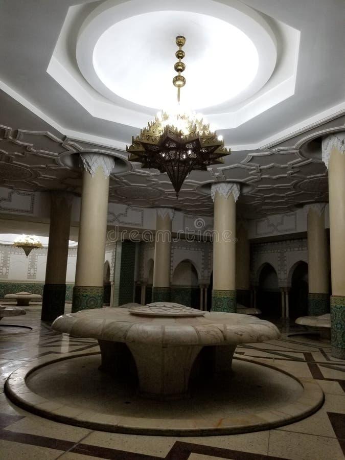 A mesquita de Hassan II - detalhes bonitos da arquitetura e da decoração fotografia de stock royalty free