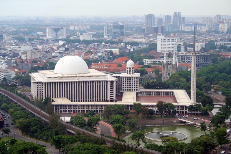 Mesquita de Istiqlal - Jakarta fotos de stock