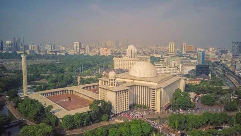 Mesquita de Istiqlal, Jakarta indonésia imagem de stock royalty free
