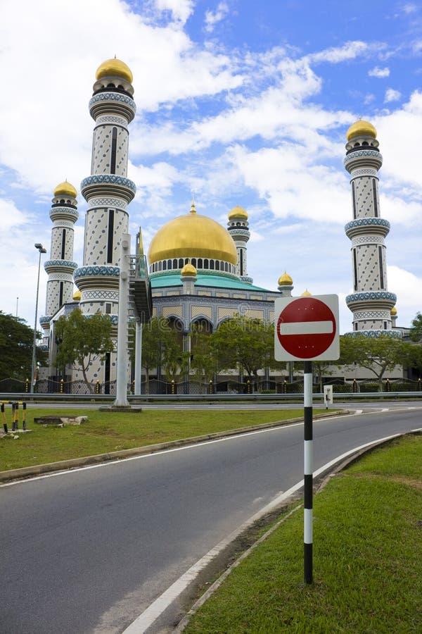 Mesquita de Jame'Asr Hassanil Bolkiah fotografia de stock