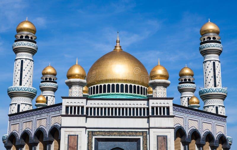 Mesquita de Jame'asr Hassanil Bolkiah em Brunei Darussalam fotografia de stock