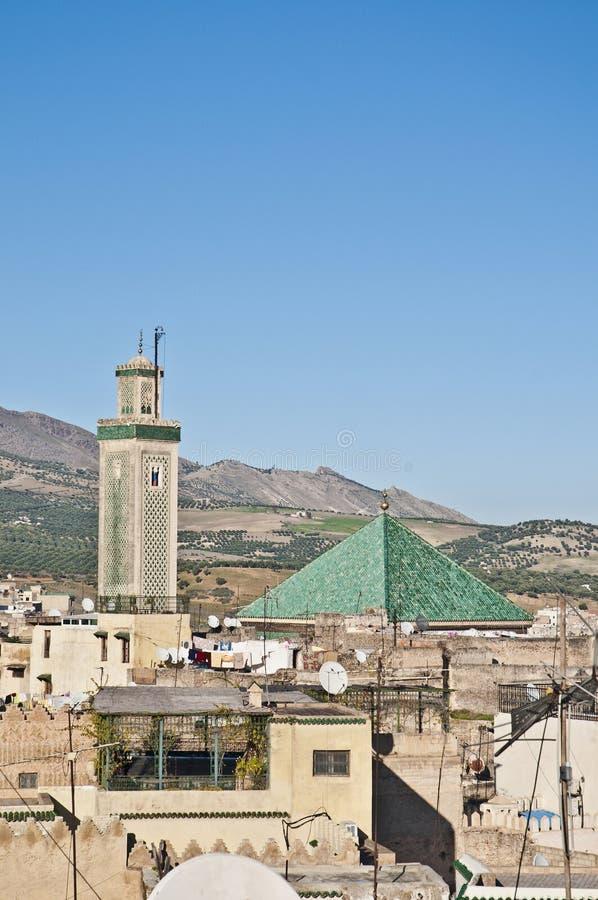 Mesquita de Kairaouine em Fez, Marrocos imagem de stock royalty free