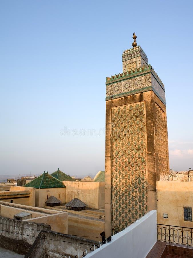 Mesquita de Kairaouine, Fes (Marrocos). fotografia de stock royalty free