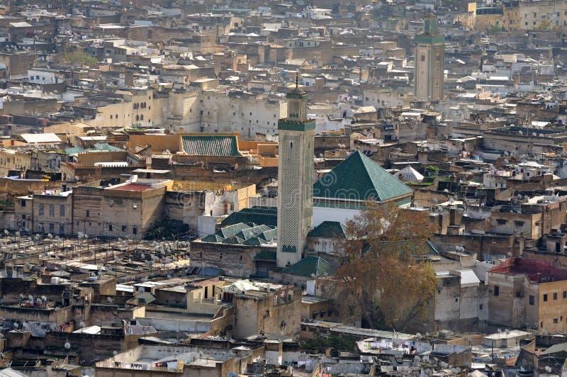 Mesquita de Kairaouine, Fes Marrocos imagem de stock