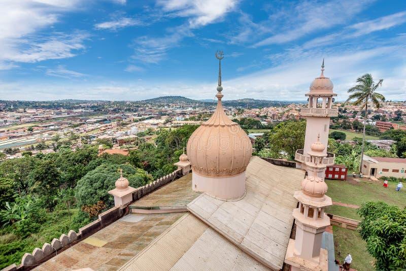 Mesquita de Kibuli na cidade de Kampala, Uganda fotos de stock royalty free