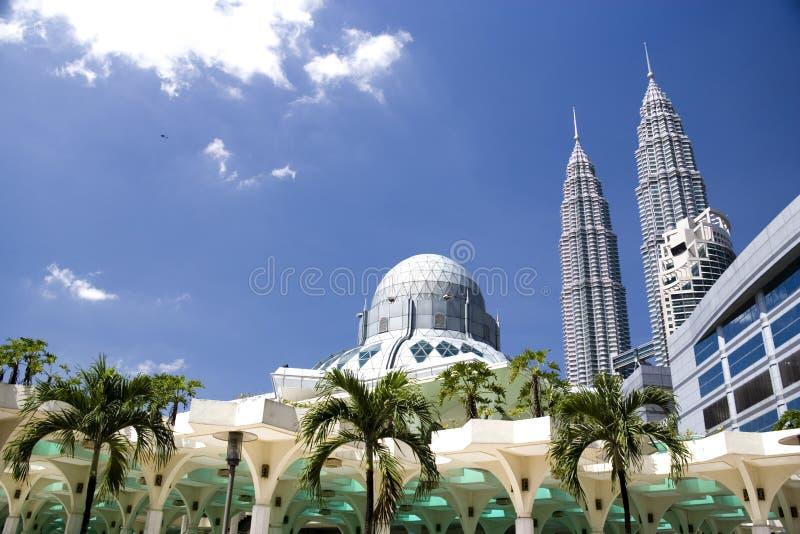 Mesquita de KLCC imagem de stock royalty free