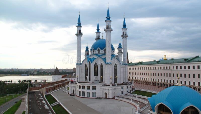 A mesquita de Kul Sharif e o Kremlin velho, Kazan fotos de stock royalty free
