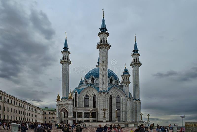 A mesquita de Kul-Sharif na cidade de Kazan em Tartaristão foto de stock royalty free
