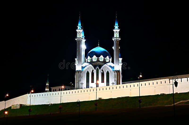 Mesquita de Kul-Sharif no Kremlin de Kazan fotografia de stock royalty free