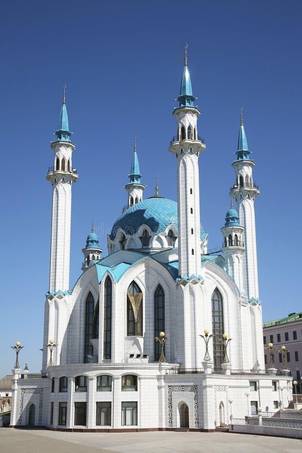 A mesquita de Kul Sharif no Kremlin de Kazan Rússia imagens de stock