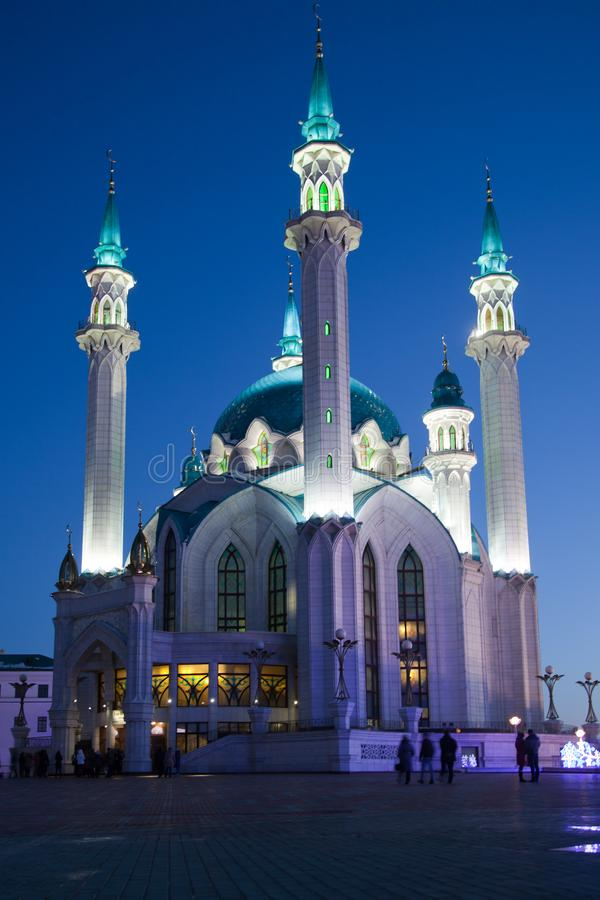 A mesquita de Kul-Sharif no Kremlin de Kazan fotografia de stock