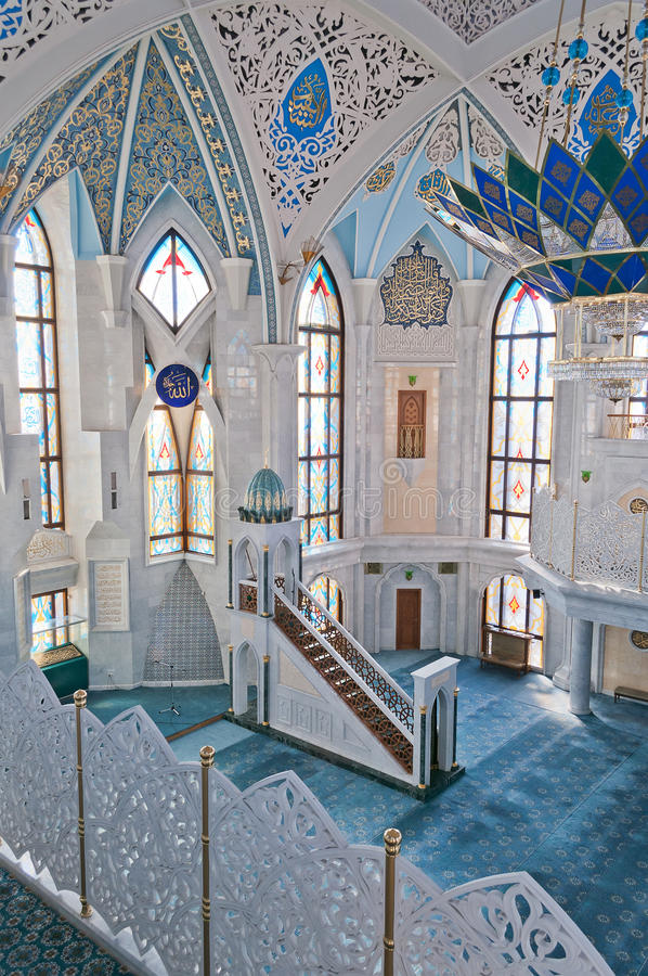 Mesquita de Kul Sharif no Kremlin. Kazan. Rússia. foto de stock