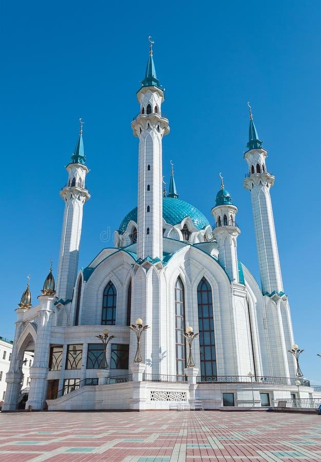 Mesquita de Kul Sharif no Kremlin. Kazan. Rússia. imagem de stock