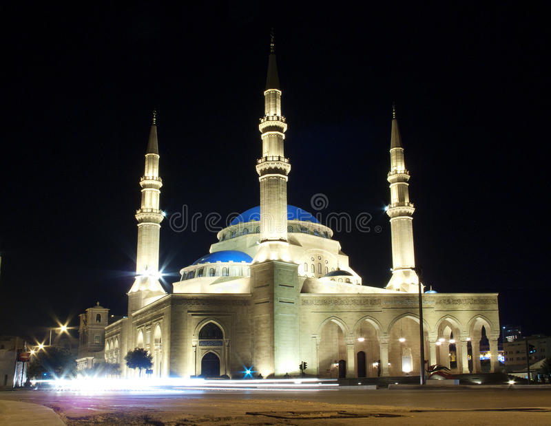 Mesquita de Mohammad al-Amin em Beirute Líbano fotos de stock