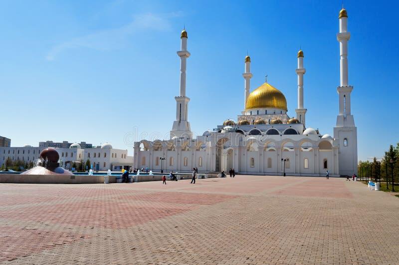 Mesquita de Nur-Astana fotos de stock royalty free