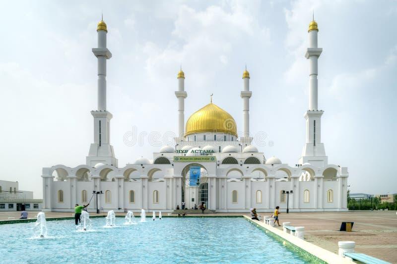 Mesquita de Nur-Astana. Astana fotos de stock