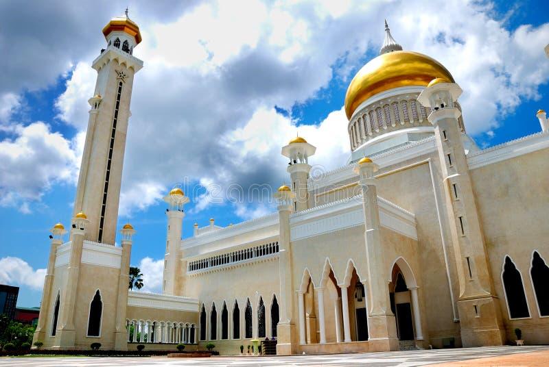 Mesquita de Omar Ali Saifuddien imagens de stock