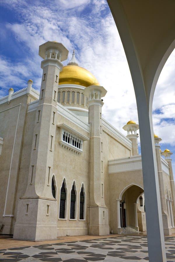 Mesquita de Omar Ali Saifuddien da sultão, Brunei imagem de stock royalty free