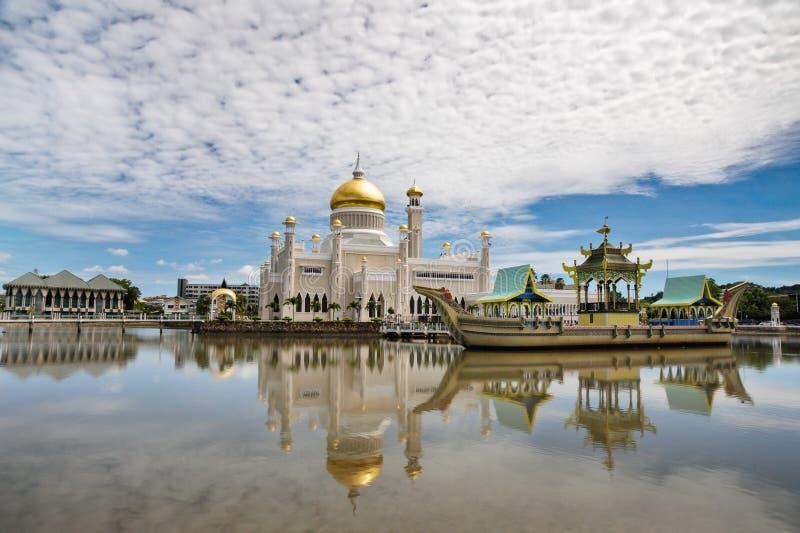 Mesquita de Omar Ali Saifuddin da sultão fotos de stock royalty free