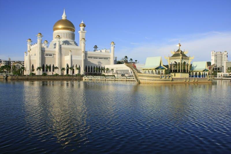 Mesquita de Omar Ali Saifudding da sultão, Brunei imagem de stock