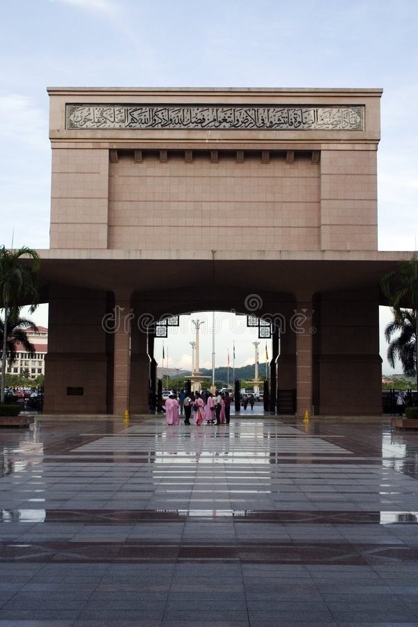 Mesquita de Putrajaya, Kuala Lumpur, Malaysia. fotografia de stock royalty free