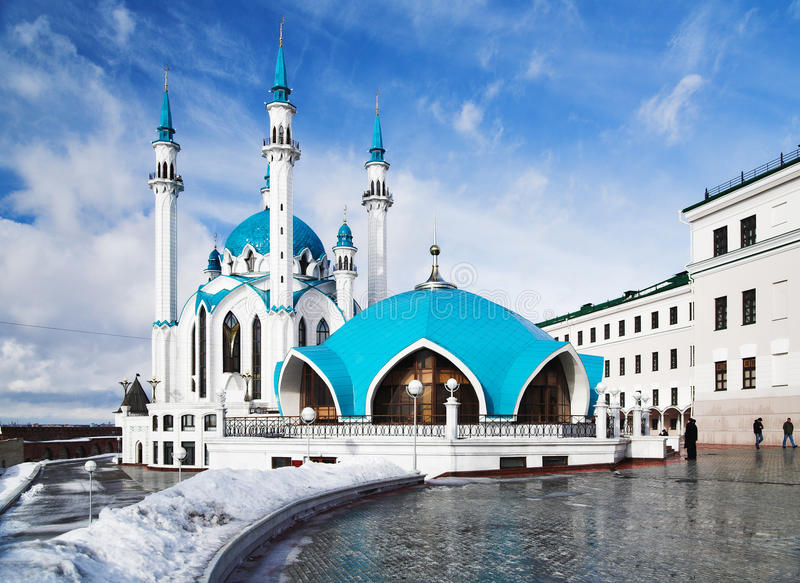 Mesquita de Qolsharif em Kazan Kremlin fotos de stock
