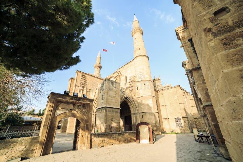 Mesquita de Selimiye, Saint anterior Sofia Church, Nicosia, Chipre fotos de stock