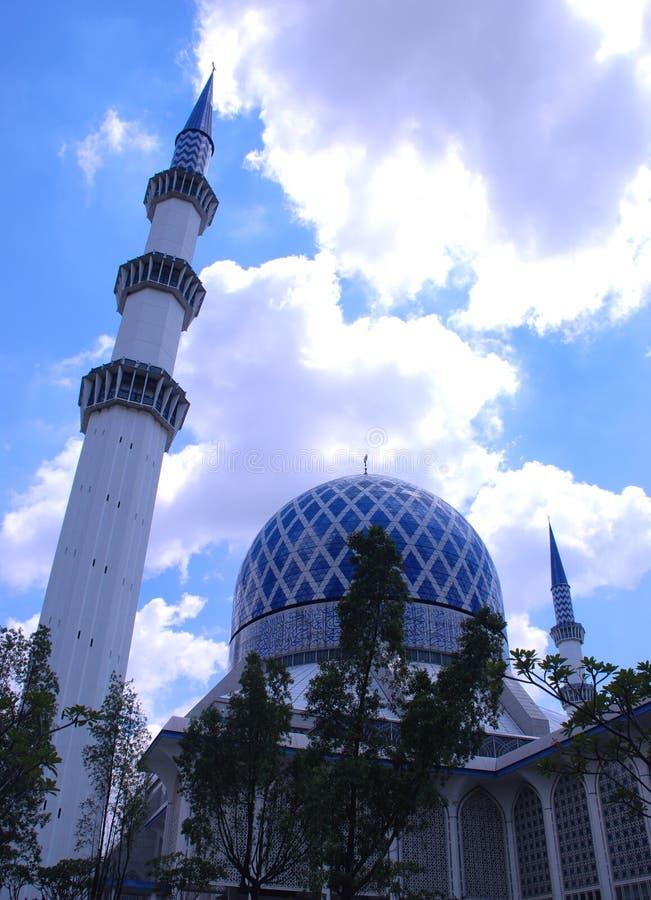 Mesquita de Shah Alam fotos de stock