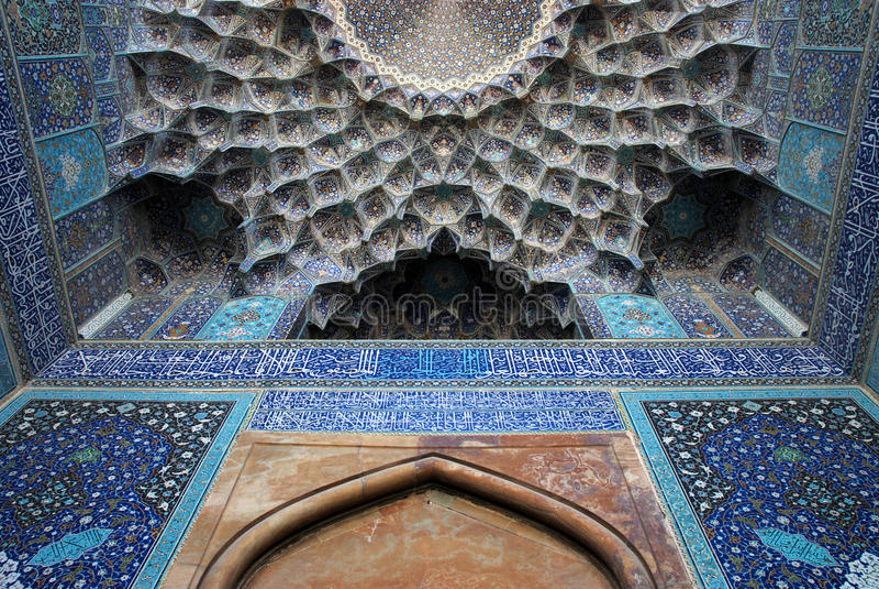 Mesquita de Shah (imã) em Isfahan, Irã imagens de stock