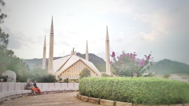Mesquita de Shah Faisal imagem de stock royalty free