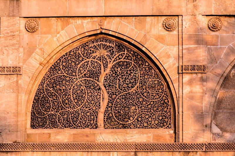 Mesquita de Sidi Saiyyed, Ahmadabad foto de stock