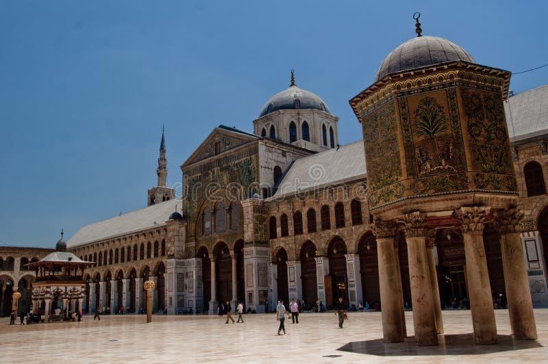 Mesquita de Umayad em Damasco foto de stock