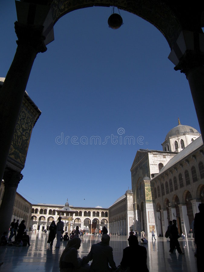 Mesquita de Umayyad em Damasco fotografia de stock