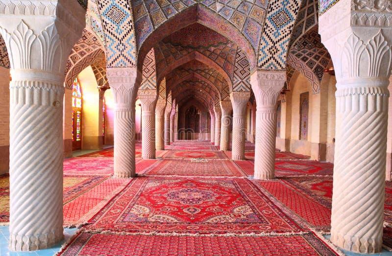 Mesquita do al-Mulk de Nasir, Shiraz, Irã imagem de stock