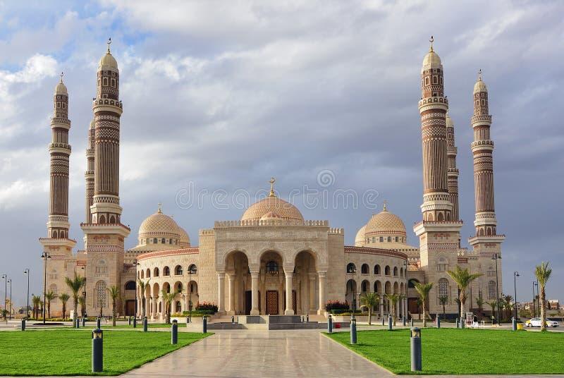 Mesquita do AL-Saleh, Sanaa, Iémen imagens de stock