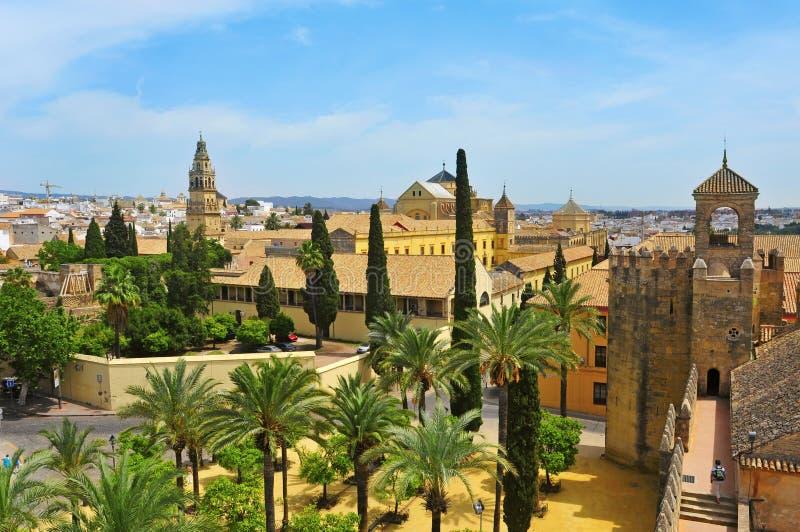 Mesquita do Alcazar e da catedral de Córdova, Spain imagens de stock