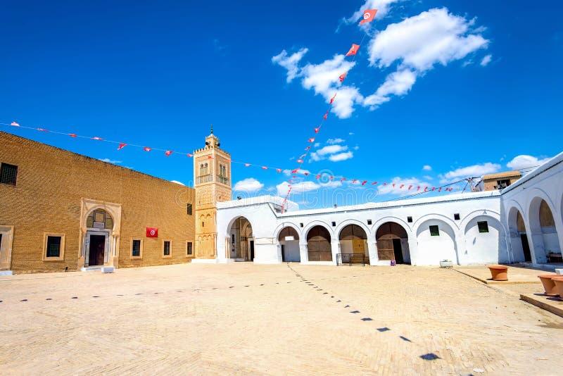 Mesquita do barbeiro em Kairouan Tunísia, Norte de África fotos de stock royalty free