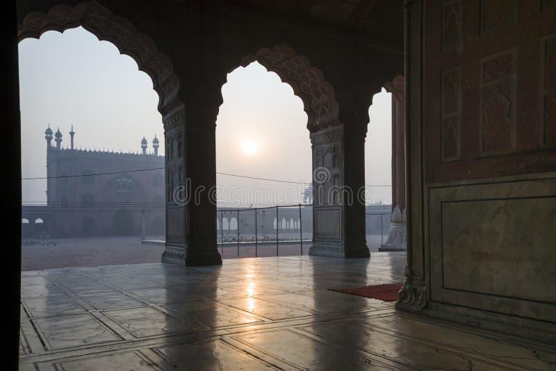Mesquita do Jama Masjid em Deli velha, India foto de stock royalty free
