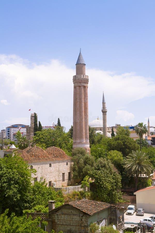 Mesquita do minare de Yivli fotografia de stock royalty free