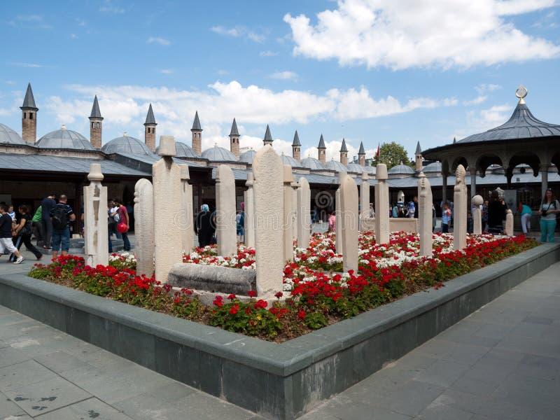 Mesquita do museu de Mevlana em Konya, imagens de stock