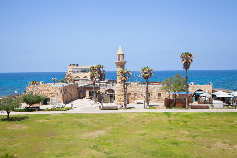 a mesquita do otomano chamou Bósnia em Caesarea foto de stock