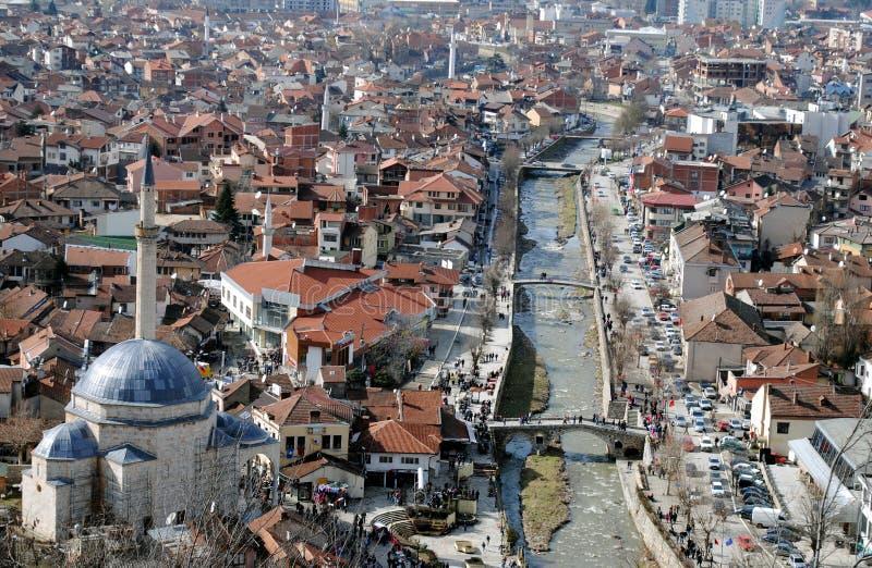 Mesquita do pasha de Sinan e pontes, Prizren imagem de stock