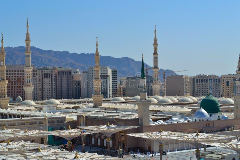 Mesquita do profeta no fim de Medina acima imagem de stock royalty free